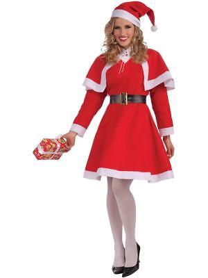 Women's Miss Santa Christmas Costume Size Standard 6-14 Dress - Santa Dresses For Women