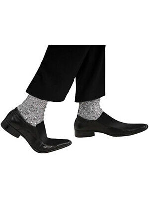 New Michael Jackson Glitter Socks Silver Sequins Costume Accessories](Michael Jackson Sparkle Socks)