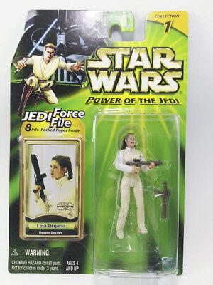 Star Wars Power Of The Jedi (POTJ) Leia Organa Bespin Escape ~ Hasbro 2000 MOC