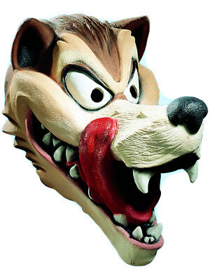 Wolf Latex Mask (Adult Cartoon Hungry Wolf Red Riding Hood Costume Accessory Latex Overhead)