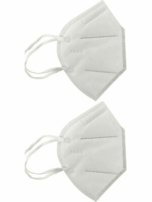 Kn95 Rated Particulate Respirator Masks Without Exhalation Valve 2 Pack