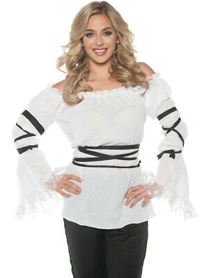 Women's White Gauze Pirate Costume Blouse](Ladies Pirate Blouse)