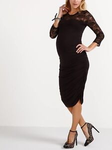 Thyme Maternity Black Lace Dress New with Tags