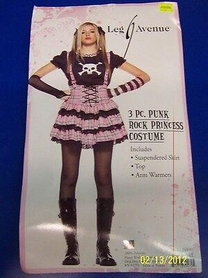 3 pc. Punk Rock Princess Pink Goth Pirate Dress Up Halloween Teen Adult Costume - Princess Costumes Teens