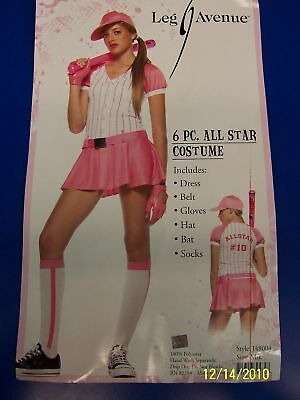 All Star Baseball Player Pink Cute Teen Adult Costume ()