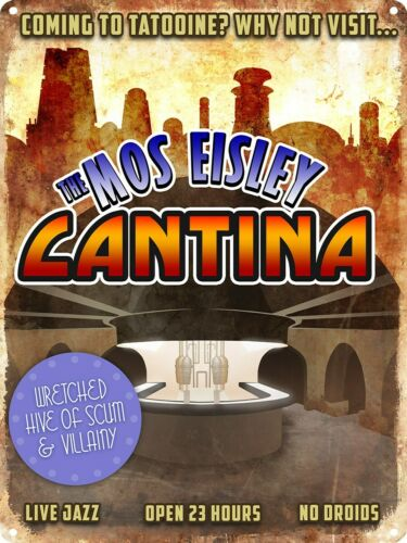 The Mos Eisley Cantina Tin Sign - Star Wars - Size: 30.5cm x 40.7cm