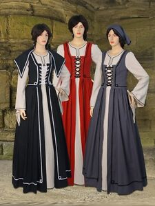 Womens-Renaissance-Gown-Medieval-cotton-Clothing-Dress-Celtic-Grab-Handmade