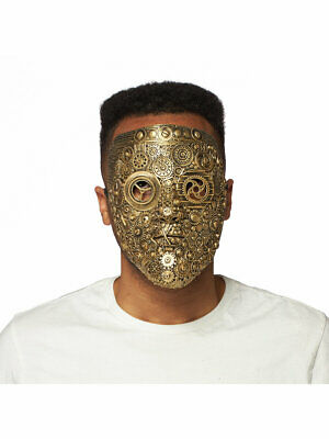 Front Face Steampunk Mask, Elastic Tie, Latex Costume Accessory