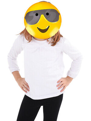 Texting Emoticon Emoji Sunglasses Face Mask Costume Accessory](Halloween Emoji Text)