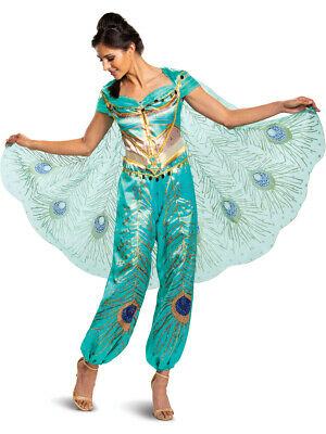 Adult's Womens Disney Princess Jasmine Deluxe Teal