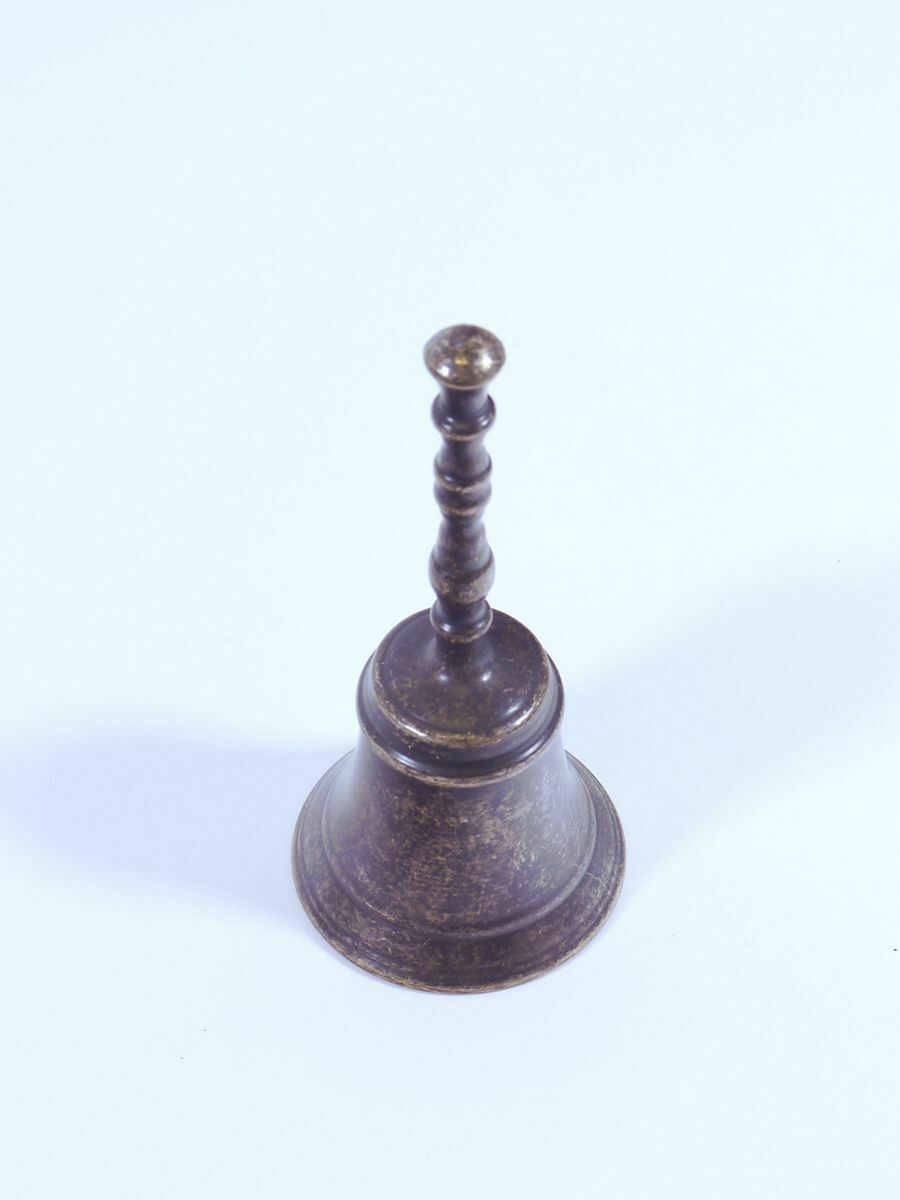 Tischglocke Glocke Weihnachtsglocke Messing brüniert Antiker Stil H 15 cm(8559)