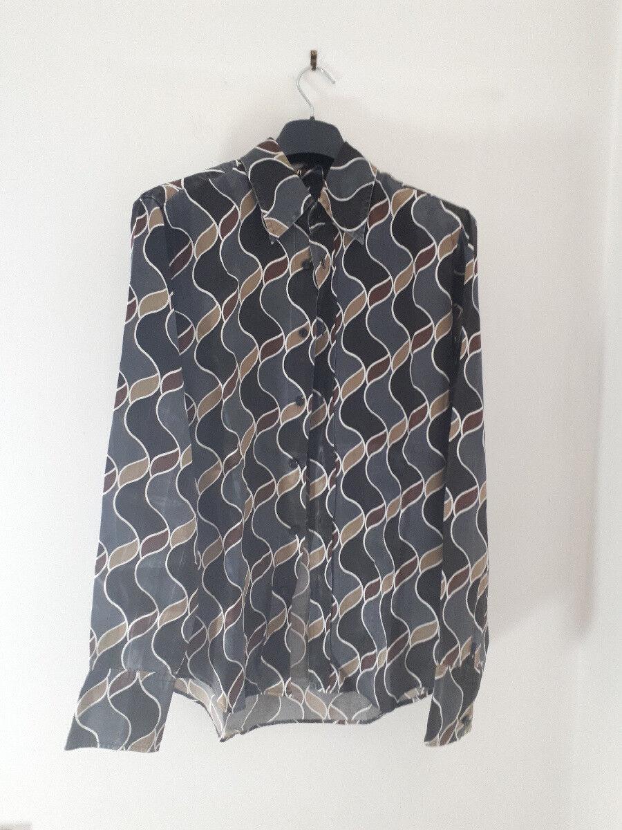 CAMICIA UOMO FANTASIA ENERGIE MADE IN ITALY TAGLIA M abbigliamento moda vintage