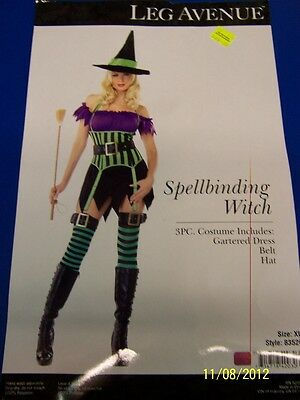 Cute Witch Halloween Costumes (3 pc. Spellbinding Witch Cute Striped Dress Up Halloween Sexy Adult)