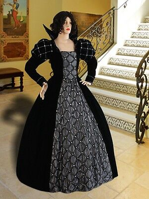 Medieval Renaissance Dress Elizabethan Queen or Noble Clothing Victorian Costume - Elizabethan Costumes