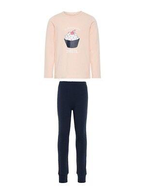 NAME IT Mädchen Pyjama Schlafanzug rosa blau Cupcake Größe 86 bis 164
