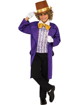 Child's Boys Classic Willy Wonka And The Chocolate Factory Wonka Costume