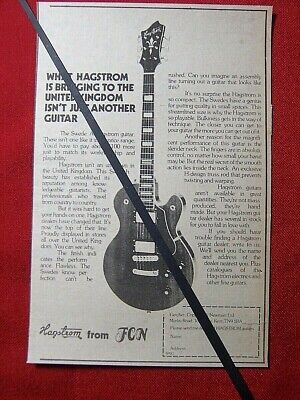 HAGSTROM SWEDE ELECRTRIC GUITAR ORIGINAL 1978 VINTAGE ADVERT  for sale  Shipping to Ireland