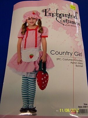 2 pc. Country Girl Strawberry Shortcake Cute Dress Up Halloween Child Costume