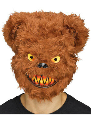 Animal Masks (Adults Killer Brown Bear Scary Wild Forest Animal Mask Costume)