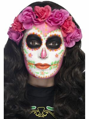 Neon Day of the Dead Liquid Latex Kit Make Up Halloween Sugar Skull Fancy Dress