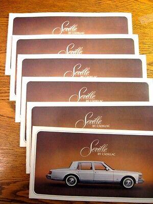 1977 Cadillac Seville Original Brochure LOT 6 pcs, New Old Stock NOS