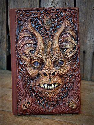 OOAK Artisan made Creepy EVIL VAMPIRE BAT Halloween Altered Book PROP