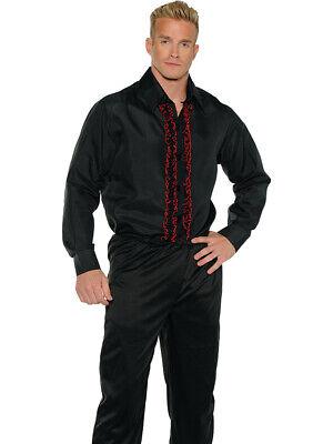 Men's Black Tuxedo Costume Shirt (Black Tuxedo Costume)