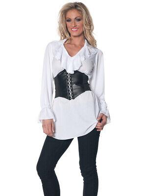 Women's White Pirate Ruffled Costume Blouse](White Pirate Blouse)