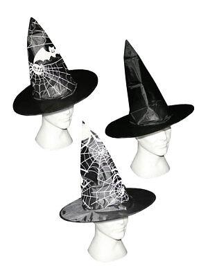 Hexenhut Schwarz Halloween Hexe Kostüm - Halloween Hexe