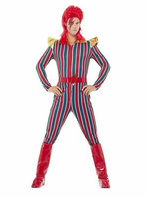 David Bowie Costumes (Smiffys Space Superstar Ziggy Stardust David Bowie Adult Halloween Costume)