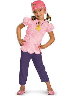 Toddler's Jake And The Neverland Pirates Izzy Costume Girls Small 4-6x - Jake The Pirate Costume
