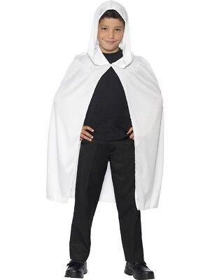 Weiß mit Kapuze Ghosts Umhang Kinder Halloween Kostüm Ghost Zubehör ()