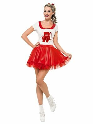 SMIFFY 27873 50er Musical Star Sandy Cheerleader Karneval Damen Kostüm rot - Sandy Cheerleader Kostüm