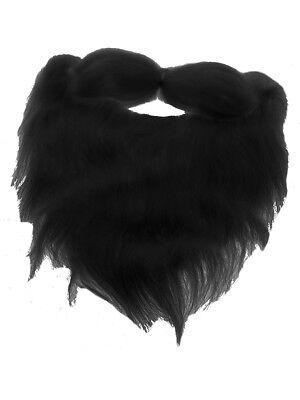 Adults Mens Black Beard Facial Hair Costume Accessory (Costume Beards)