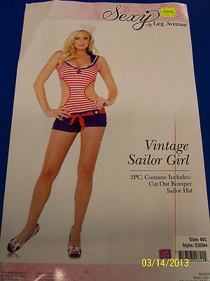 2 pc. Vintage Sailor Girl Pinup Navy Red Dress Up Halloween Sexy Adult - Vintage Pin Up Girl Kostüm Halloween