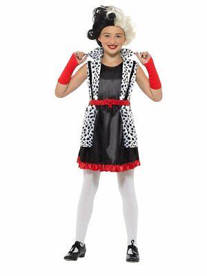 Smiffys Evil Little Madame Cruella de Vil Dress Childs Halloween Costume 49696](Cruella De Vil Costume Kids)