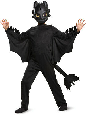 Boys Dragon Costume (Child's Classic How To Train Your Dragon 3 Toothless)