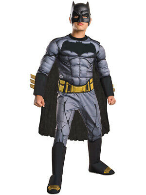 Child's Deluxe Batman V Superman Dawn Of Justice Padded Jumpsuit Costume