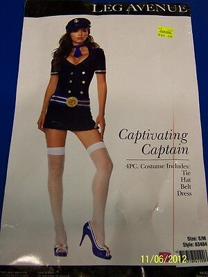 4 pc. Captivating Captain Sailor Navy Girl Dress Up Halloween Sexy Adult Costume