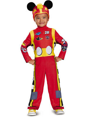 Boys Classic Disney Mickey And The Roadster Racers Mickey Mouse Costume