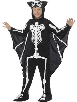 SMI - Kinder Kostüm Skelett Fledermaus - Fledermaus Kostüm Halloween