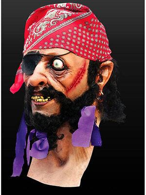 Pirat Maske Latex Halloween Grusel Horror Seeräuber