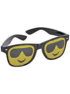 Black Framed Cool Guy Face Emoticon Emoji Novelty Glasses Costume Accessory