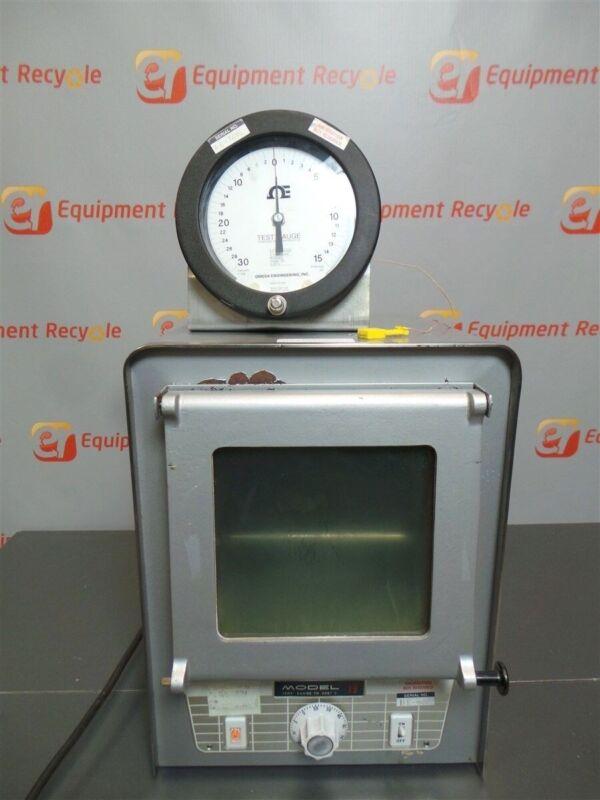 Precision Thelco Vacuum Oven 19 w/ Omega Temperature Test Gauge Clean