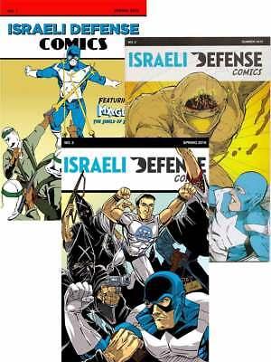 Israeli Defense Comics Set 1 2 3 Golem Jewish Superhero Israel Comic Book Lot
