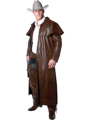 Brown Coat Costume (Men's Brown Cowboy Duster Costume)