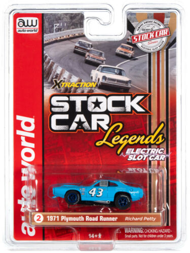 HO Slot Car - Auto World X-Traction - Stock Car Legends - 71 Plymouth RR Petty