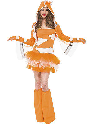 Adult Sexy Orange Clownfish Tutu Dress Nemo Animal Costume