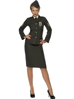 Wartime Army Officer Military Uniform Adult Costume](Adult Army Costume)