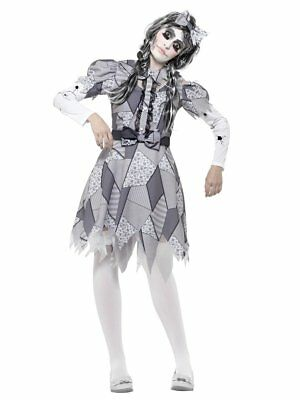 Smiffys Damaged Doll Toy Horror Gothic Adult Womens Halloween Costume 45573 (Toy Doll Costume)